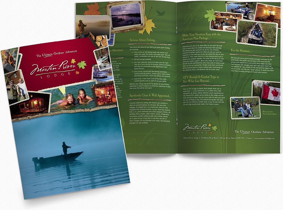 Marten River Lodge - Brochure Design