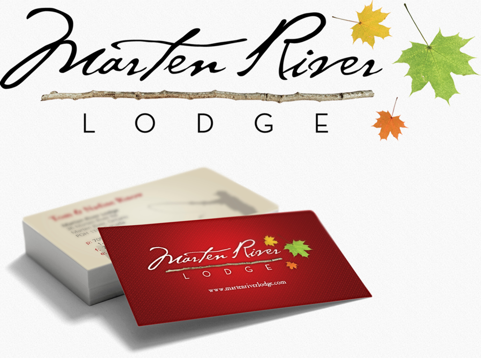 Marten River Lodge - Logo and Business cards