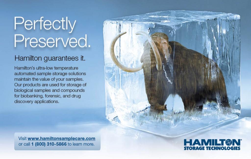 Hamilton Sample Storage Ad